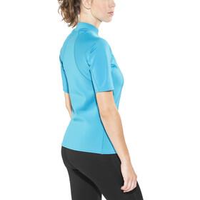 NRS HydroSkin 0.5 Shortsleeve Shirt Damen azure blue